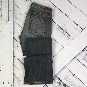 7 FOR ALL MANKIND Flynt Bootcut Jeans Gray sz 27